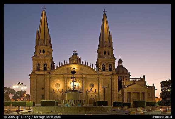 Cathedral at dawn. Guadalajara, Jalisco, Mexico