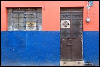 Multicolored wall, window, and door. Guadalajara, Jalisco, Mexico ( color)