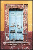 Window and multicolored wall. Guadalajara, Jalisco, Mexico (color)