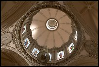 Dome fo the Cathedral seen from below. Guadalajara, Jalisco, Mexico (color)