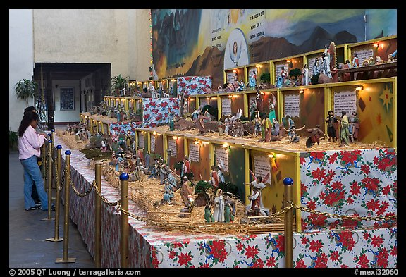 Exhibit showing scenes from the bible, Tlaquepaque. Jalisco, Mexico (color)