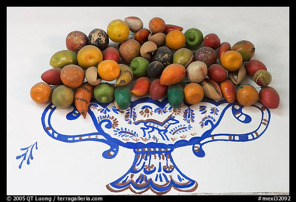 Ceramic fruits, museo regional de la ceramica de Jalisco, Tlaquepaque. Jalisco, Mexico