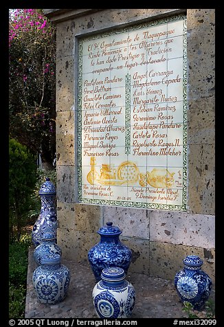 Monument dedicated to ceramic artists, Tlaquepaque. Jalisco, Mexico (color)