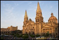 Cathedral and Plaza de los Laureles. Guadalajara, Jalisco, Mexico ( color)