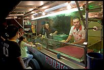 Food  stand in the street at night, Tlaquepaque. Jalisco, Mexico (color)