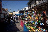 Art and craft market in the streets, Tonala. Jalisco, Mexico (color)