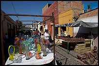 Stands in the sunday town-wide arts and crafts market, Tonala. Jalisco, Mexico ( color)