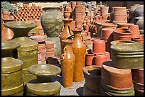 A variety of clay pots for sale, Tonala. Jalisco, Mexico ( color)