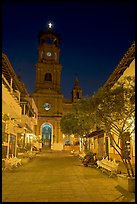 Cathedral seen from Plaza de Armas, Puerto Vallarta, Jalisco. Jalisco, Mexico (color)