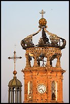 Crown of Templo de Guadalupe Cathedral , Puerto Vallarta, Jalisco. Jalisco, Mexico (color)