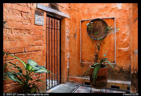 Artistically decorated entrance to a home , Puerto Vallarta, Jalisco. Jalisco, Mexico (color)