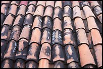 Detail of red tiled roof, Puerto Vallarta, Jalisco. Jalisco, Mexico