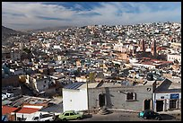 Panoramic view of the town from Paseo La Buffa. Zacatecas, Mexico ( color)