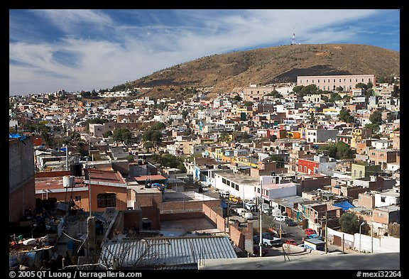 Panoramic view of the town. Zacatecas, Mexico (color)