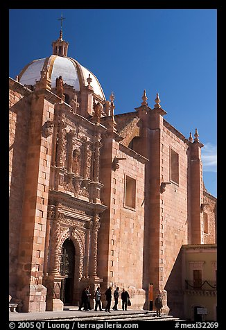 Side door of the churrigueresque cathedral. Zacatecas, Mexico (color)