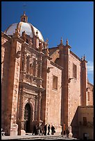 Side door of the churrigueresque cathedral. Zacatecas, Mexico ( color)