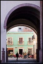 Archway on Arms Square. Zacatecas, Mexico (color)