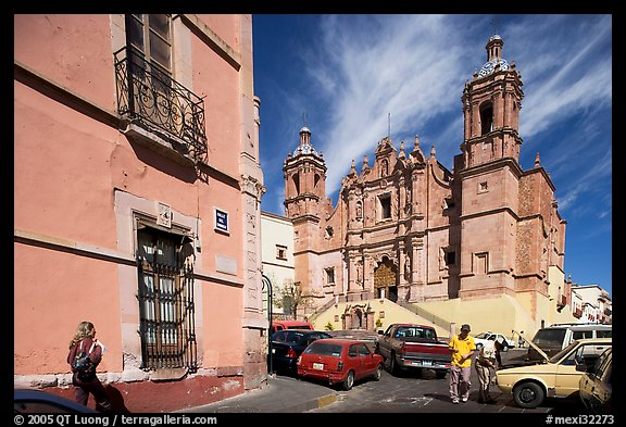 Santo Domingo Church, late morning. Zacatecas, Mexico (color)