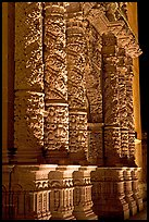 Churrigueresque columns on the facade of the Cathdedral. Zacatecas, Mexico (color)