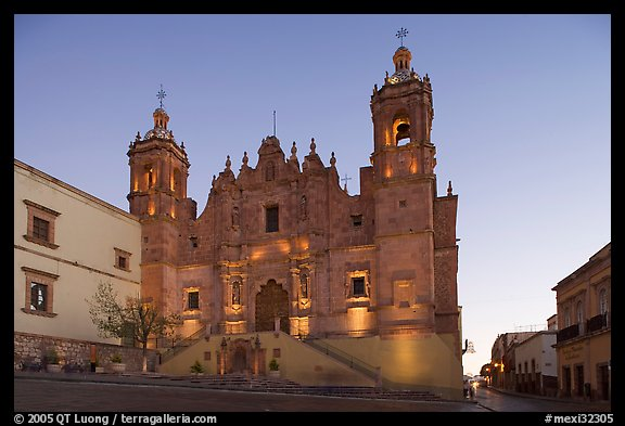 Church Santo Domingo at dawn. Zacatecas, Mexico (color)
