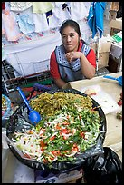 Woman and plater with typical vegetables. Guanajuato, Mexico ( color)