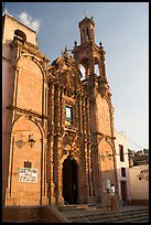Church, late afternoon. Guanajuato, Mexico ( color)