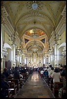 Evening mass in the Basilica de Nuestra Senora Guanajuato. Guanajuato, Mexico (color)