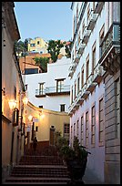 Street with steps at dawn. Guanajuato, Mexico ( color)