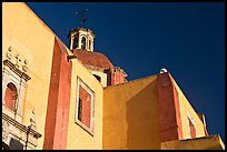 Walls and dome of San Roque church, early morning. Guanajuato, Mexico ( color)