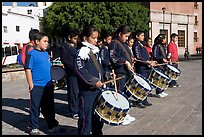 Children practising in a marching band. Guanajuato, Mexico ( color)