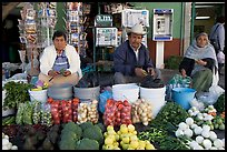 Fruit and vegetable vendors on the street. Guanajuato, Mexico ( color)