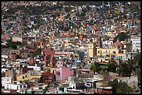 View of the city center from Pipila, mid-day. Guanajuato, Mexico ( color)