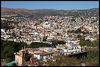 Panoramic view of the city, mid-day. Guanajuato, Mexico ( color)