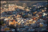 Church San Roque, and hills, early morning. Guanajuato, Mexico ( color)