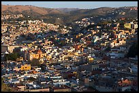 Panoramic view of the town, early morning. Guanajuato, Mexico ( color)