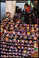 Woman selling Traditional puppets. Guanajuato, Mexico ( color)