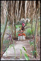 Tropical tomb in a cemetery. Mexico (color)