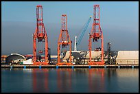 Cranes in port, Ensenada. Baja California, Mexico ( color)