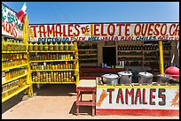 Roadside tamales stand. Baja California, Mexico ( color)