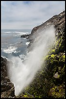 Tidal blowhole, La Bufadora. Baja California, Mexico ( color)