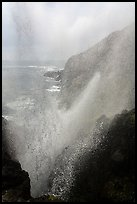Marine geyser blowing up 100 feet, La Bufadora. Baja California, Mexico ( color)