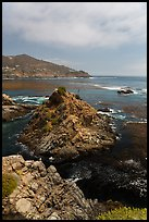 Bay, rocks, and kelp, La Bufadora. Baja California, Mexico ( color)