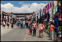 Outdoor market, La Bufadora. Baja California, Mexico (color)