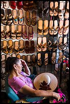 Sandals vendor. Baja California, Mexico (color)