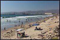 Beach south of harbor. Baja California, Mexico ( color)