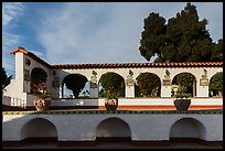 Courtyard arches, Riviera Del Pacifico, Ensenada. Baja California, Mexico ( color)
