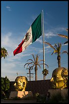 Plaza Civica with giant busts of Mexican heroes, Ensenada. Baja California, Mexico ( color)