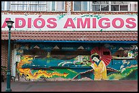 International mural decor, Ensenada. Baja California, Mexico ( color)