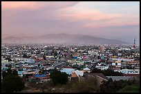 Ensenada from above at sunset. Baja California, Mexico ( color)