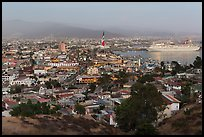 Ensenada and harbor at dusk. Baja California, Mexico ( color)